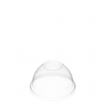TYPE DL80 80mm Clear Domed Lid with Spoon Hole